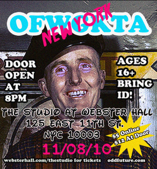 OFWGKTA New York flyer