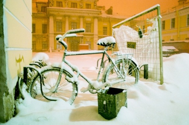 winter cycling russia