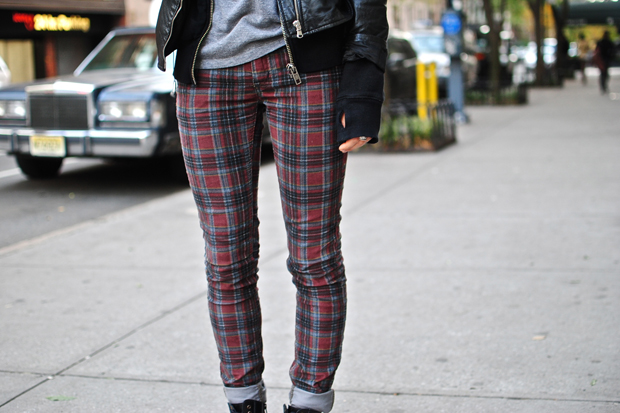 On The Street: Plaid Skinny Jeans | The FADER