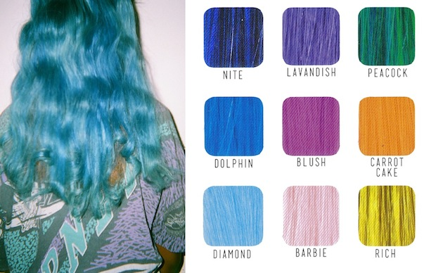 You can now order mermaid colored hair extensions by mail the fader posted pmusecretfo Gallery
